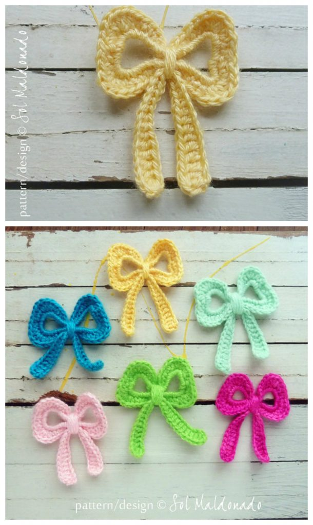Applique bow pattern on Etsy