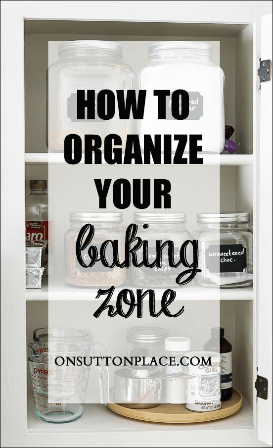 baking zone organization copy