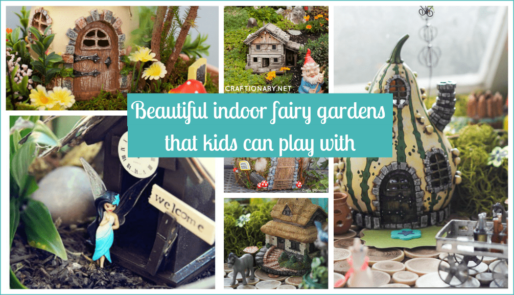 Beautiful indoor fairy gardens at craftionary.net