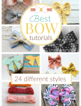 Best bow tutorials with 24 different styles to make a bow