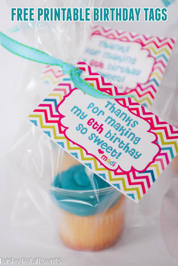 birthday cupcakes tags
