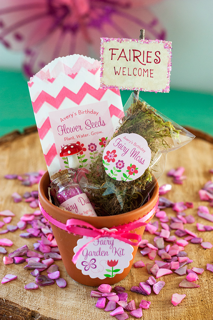 Birthday gift idea - a fairy garden kit