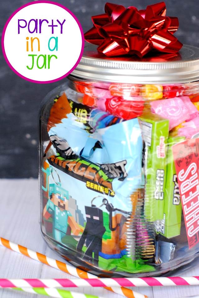 Birthday gift idea - party in a jar