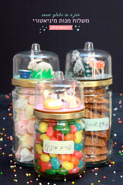 Birthday gift idea - snow globe jar