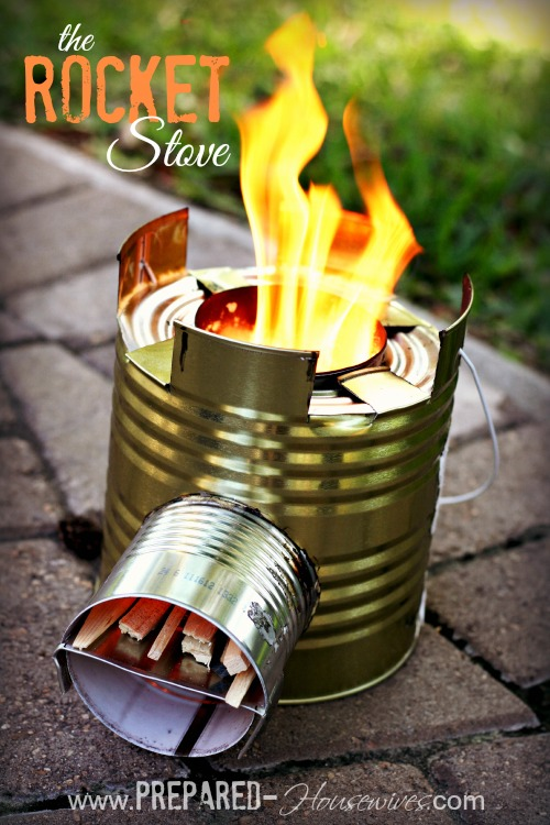 Build a rocket stove for camping