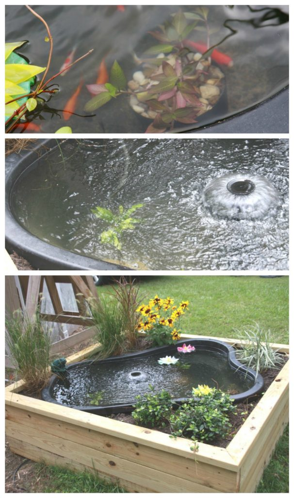 Building a boxed pond