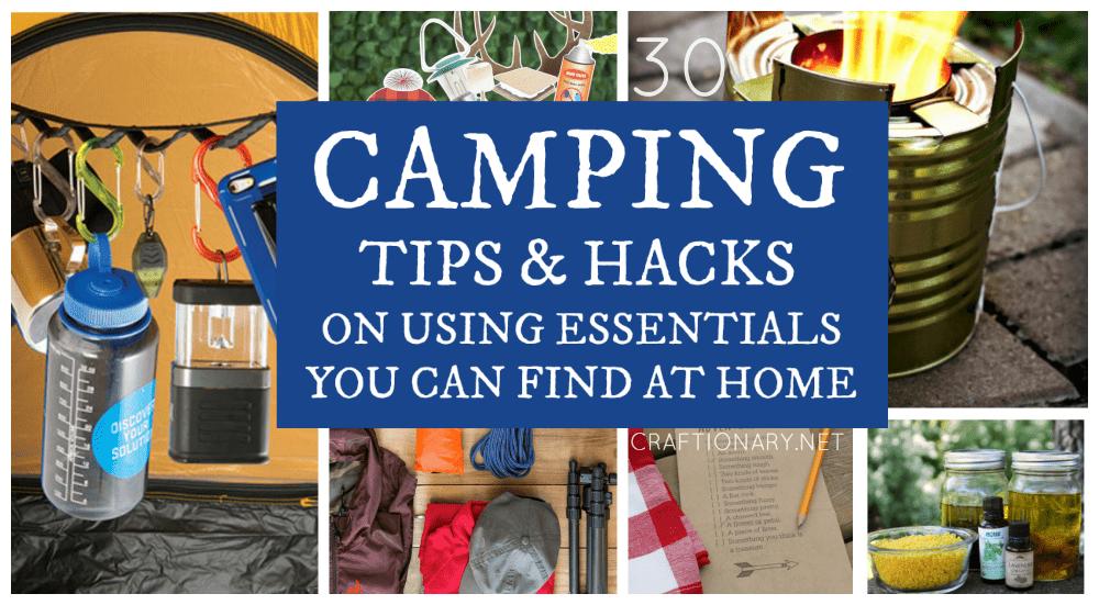 Camping tips and hacks at craftionary.net