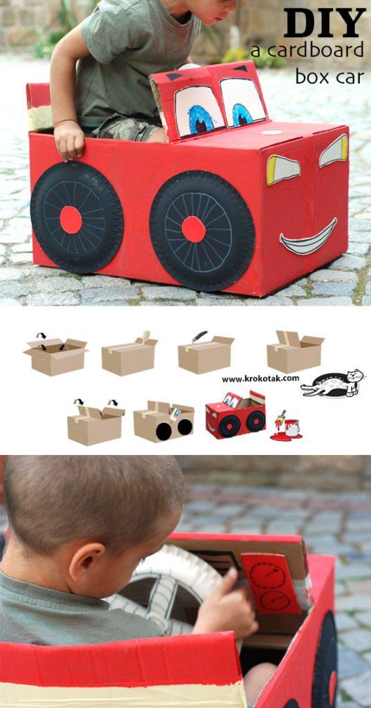 cardboard car toy