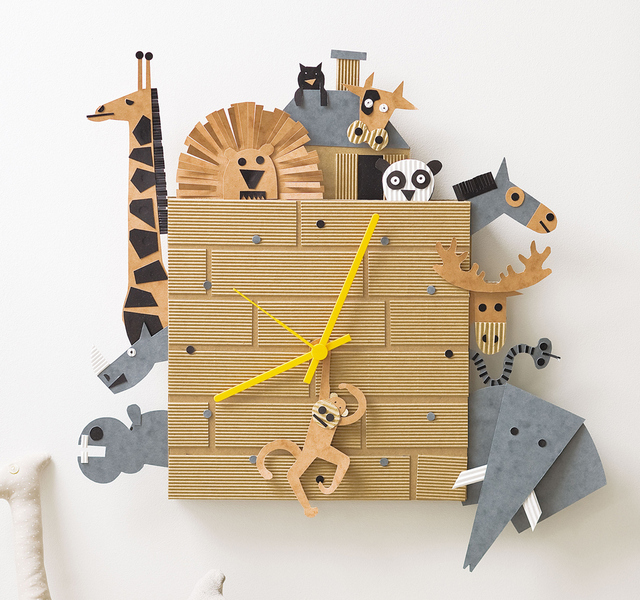 Cardboard box clock