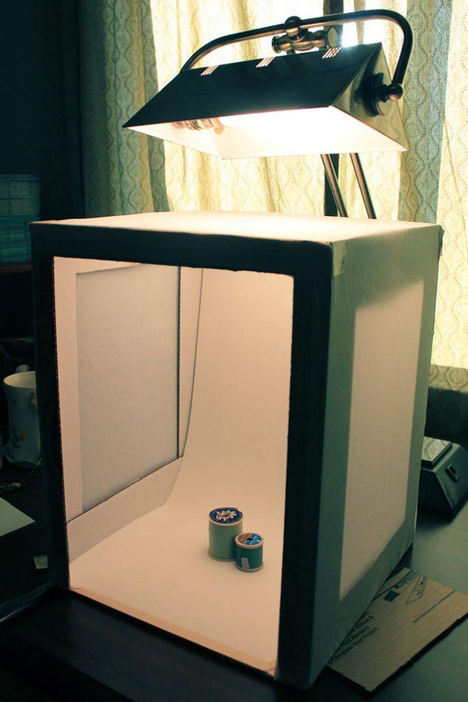 Cardboard box photo box