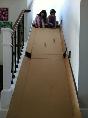 Cardboard box slide