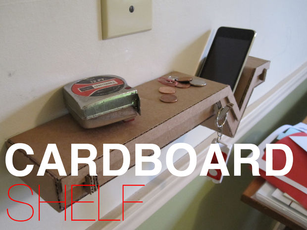 cardboard shelf DIY