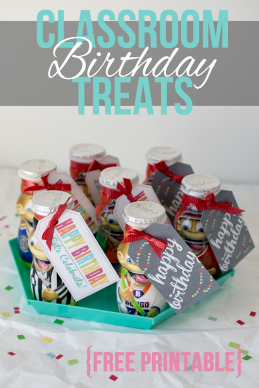 classroom birthday treat tags