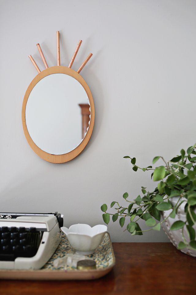 Copper pipe DIY mirror