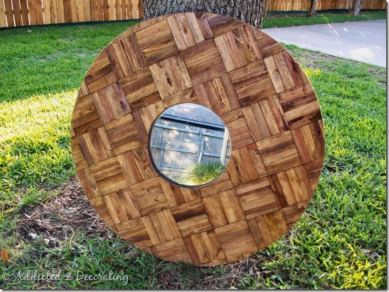 decorative mirror with wood shims