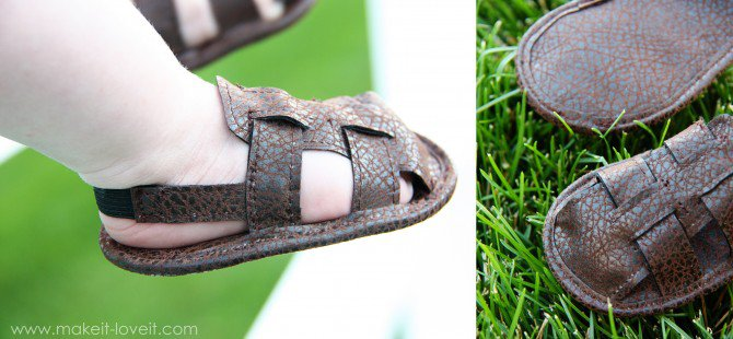 DIY leather baby boy sandals