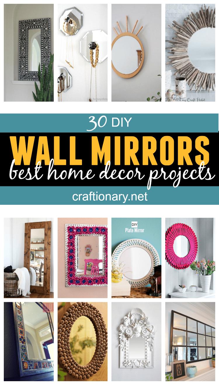 DIY wall mirrors