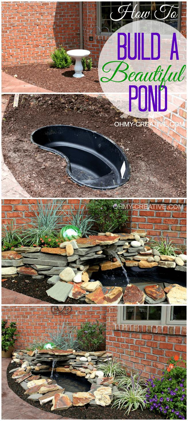 DIY water garden feature
