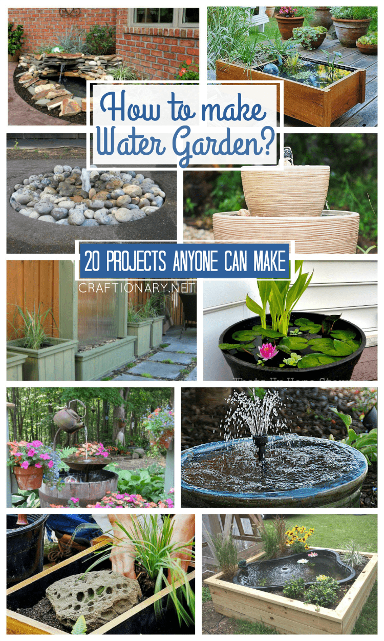 Craftionary for Making a water garden