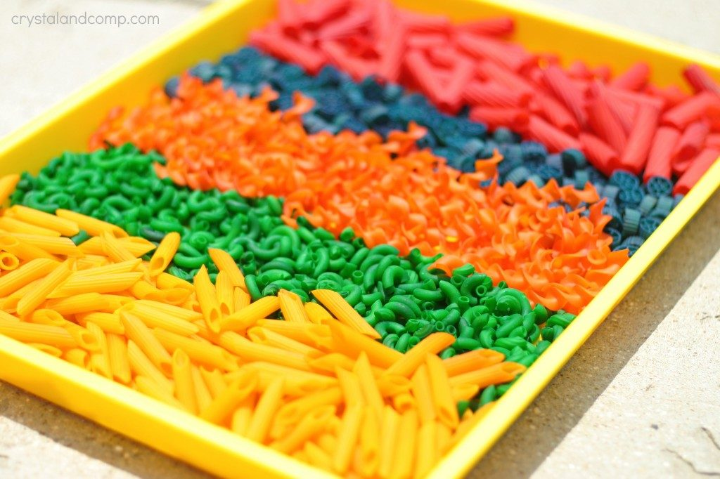 rainbow pasta crafts