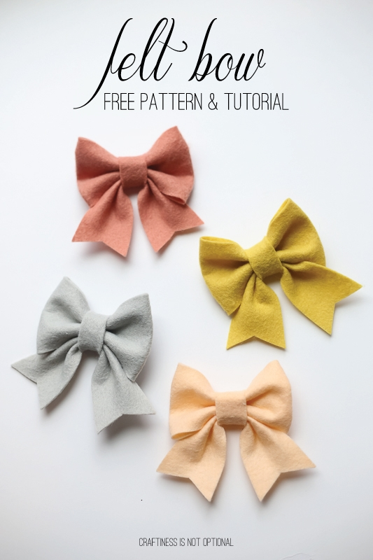 easy felt bows