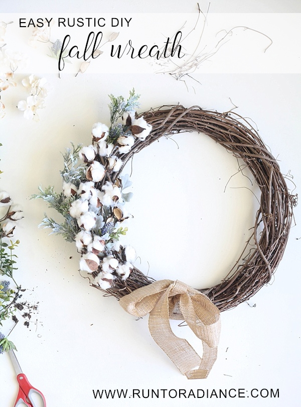 easy rustic fall wreath