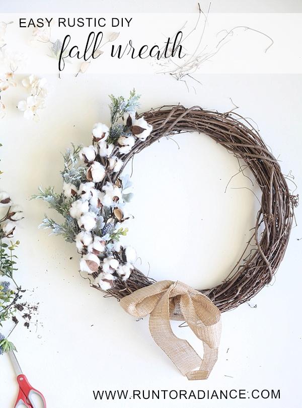 easy rustic fall wreath