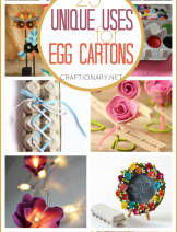 Unique uses for egg carton in crafts for kids and adults