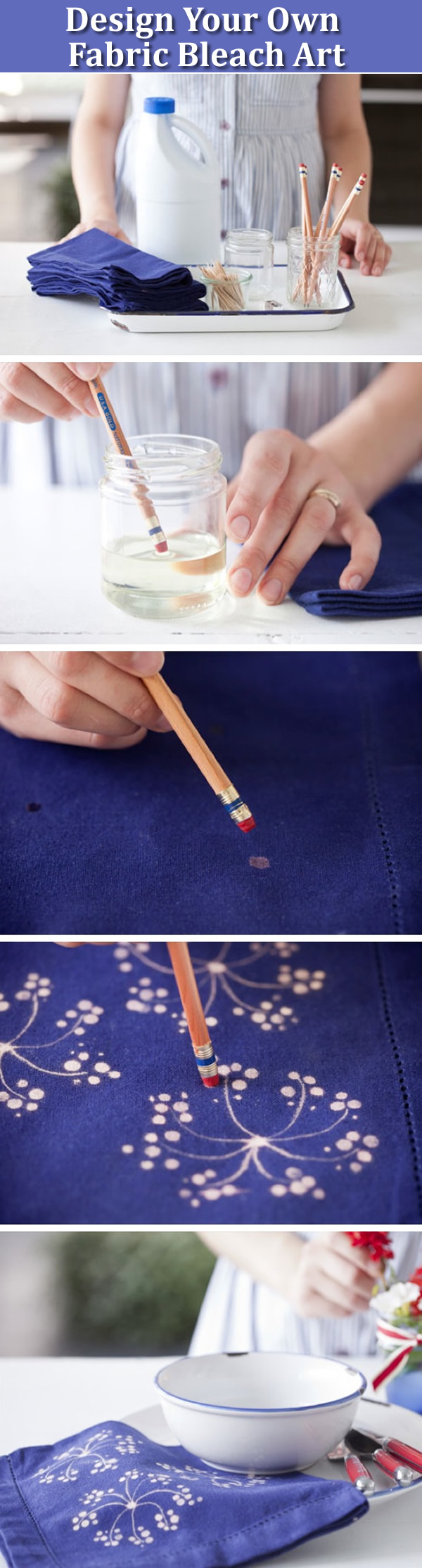 fabric bleach diy craft