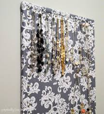 fabric covered necklace holder