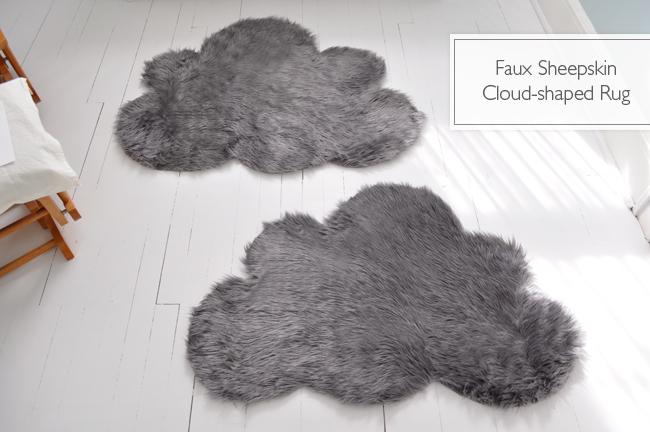 faux sheep skin cloud rug