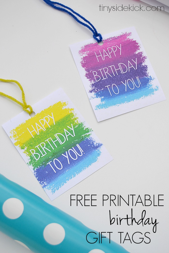 Monster image within free printable birthday labels and tags