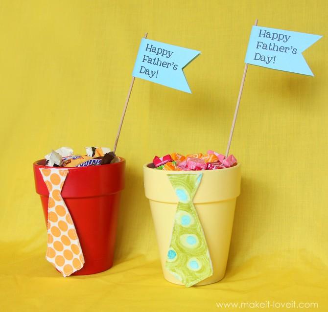 gift chocolate pots idea