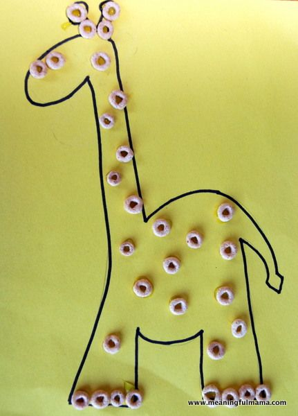 giraffe crafts cereals