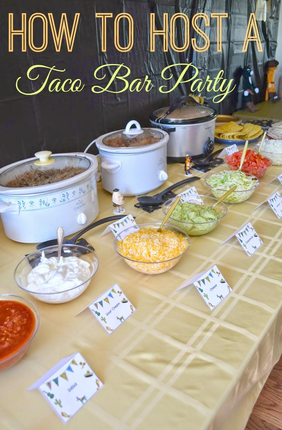 host a taco bar party