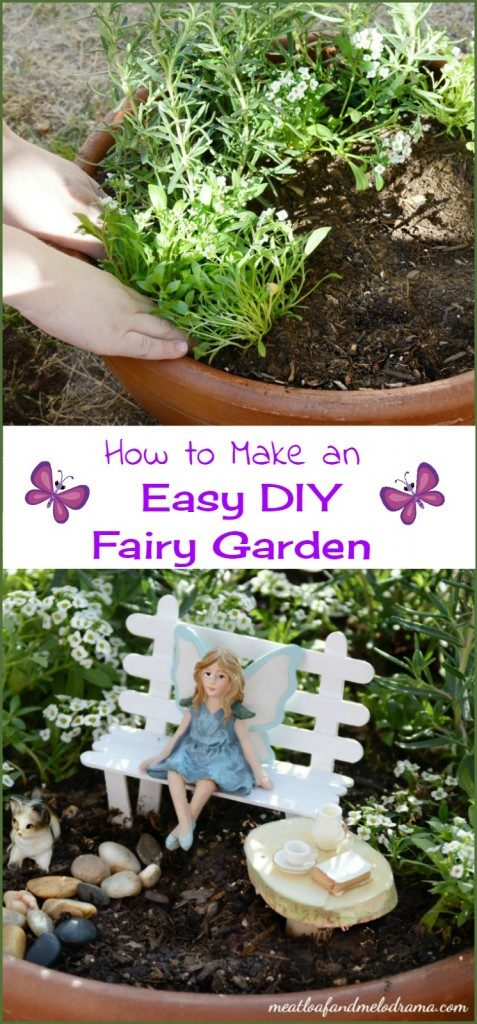 easy ideas of fairy gardens making