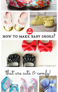 How to make baby shoes with fabric and leather that are cute and comfy