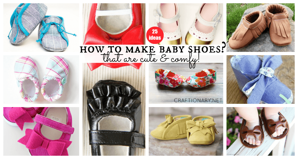 How to make baby shoes at craftionary.net