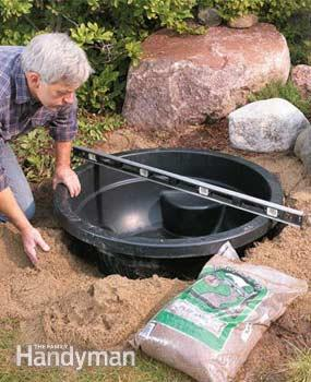 how to install pond in garden