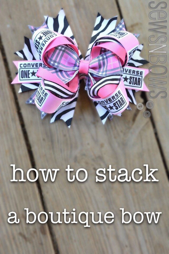 How to stack a boutique bow