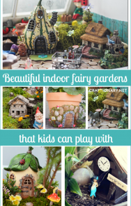 Beautiful indoor fairy gardens that kids can play with