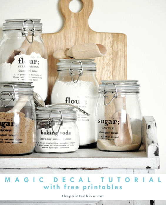 organize the dry baking essentials