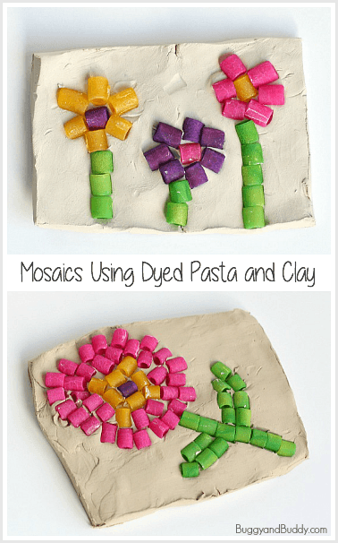 pasta mosaic art