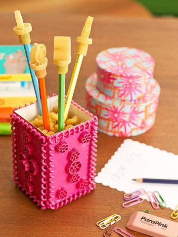Pasta stationery holder