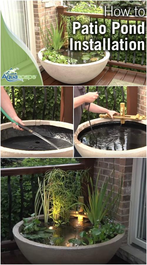 how to create a patio pond