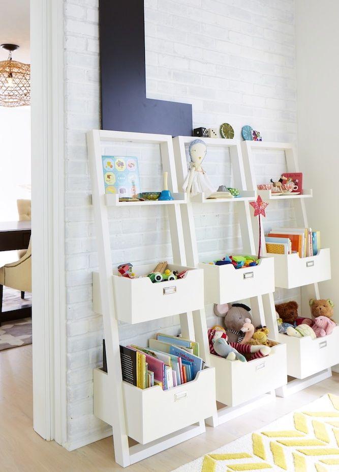 kids play room organizing