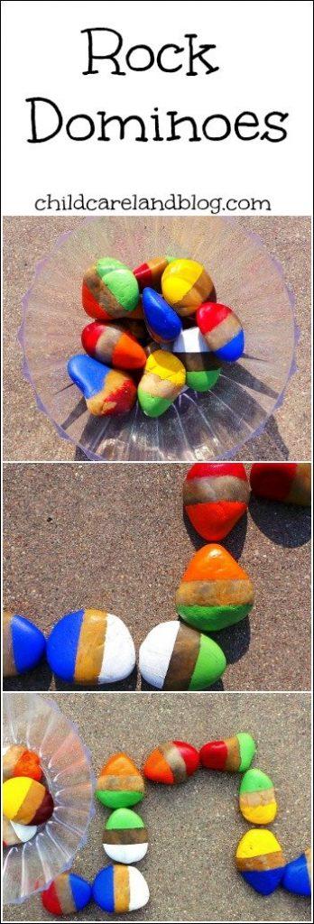 rock color dominoes
