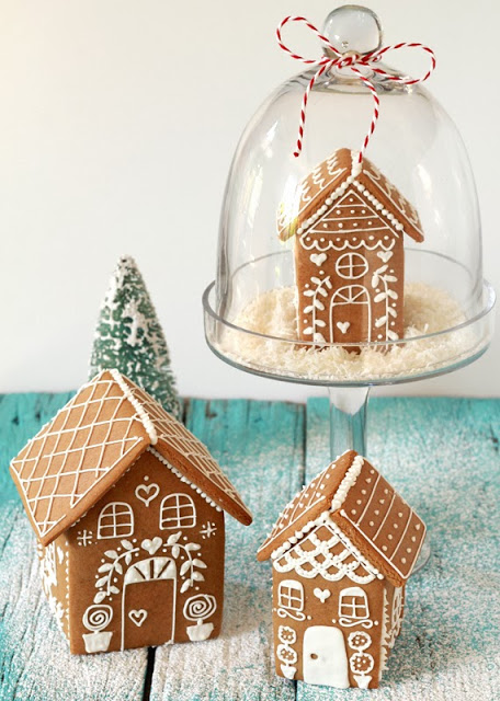 snow globe ginger bread house