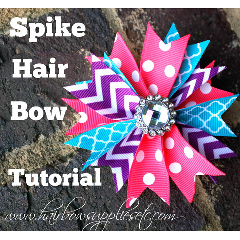 Spike hair bow tutorial