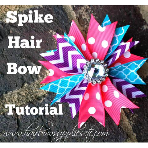 Spike hair bow tutorial